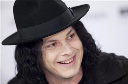 """Jack White of the film """"White Stripes:   Under the Great White Northern Lights"""" speaks at a press conference during the 34th Toronto International Film Festival,   September 18, 2009. REUTERS/Mark Blinch"""