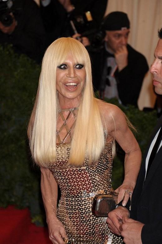 Donatella Versace wore Versace, obvs