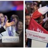 A combination of pictures shows French presidential candidates Nicolas Sarkozy (L) and Francois Hollande during their electoral rallies in Toulouse and Paris respectively April 29, 2012. REUTERS/Philippe Wojazer (L) and Charles Platiau (R)