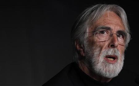 """Director Michael Haneke attends a news conference for the film """"Amour"""", in competition at the 65th Cannes Film Festival, May 20, 2012. REUTERS/Vincent Kessler"""