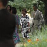 U.S. President Barack Obama (R) walks with first lady Michelle Obama (L) and her mother Marian Robinson (2nd R) to the home of Obama's advisor Valerie Jarrett in Chicago June 16, 2012. REUTERS/Jason Reed