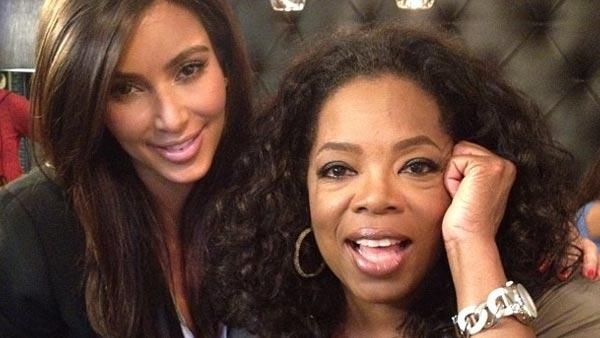 Kim Kardashian tells Oprah Winfrey she's happy to be dating an older man