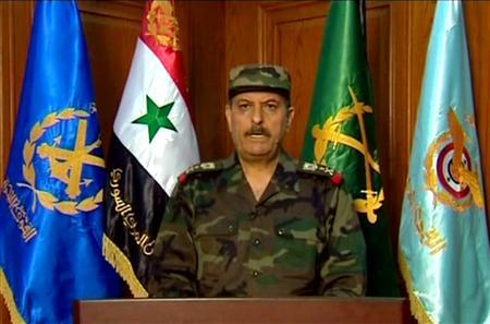 Syrian General Fahad Jassim al-Freij is seen in this handout released by Syria's national news agency SANA on July 18, 2012. REUTERS/Sana/Handout/Files