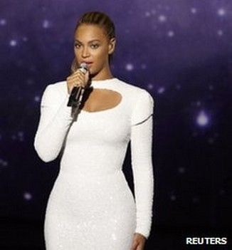 Beyonce sings at United Nations