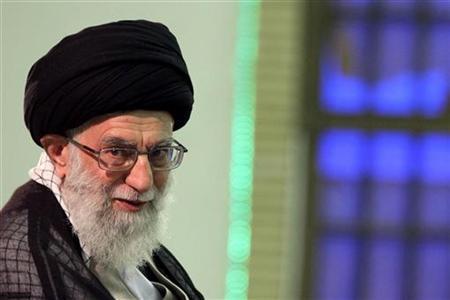Iran's supreme leader Ayatollah Ali Khamenei attends a meeting with high-ranking officials in Tehran August 31, 2011. REUTERS/www.khamenei.ir/Handout