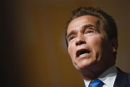 Former California Governor Arnold Schwarzenegger attends the Road to Rio meeting ahead of the UN Conference on Sustainable Development at the CICG in Geneva March 7, 2012. REUTERS/Valentin Flauraud