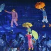 Performers are lifted into the air in the Olympic Stadium during the opening ceremony of the London 2012 Paralympic Games August 29, 2012. REUTERS/Stefan Wermuth