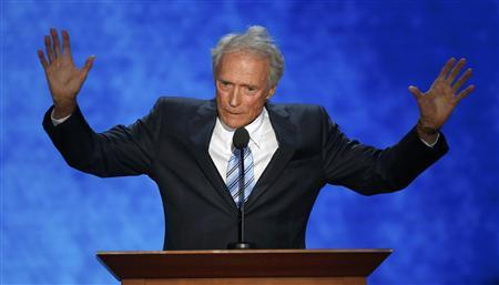 Actor Clint Eastwood endorses Republican presidential nominee Mitt Romney during the final session of the Republican National Convention in Tampa, Florida, August 30, 2012. REUTERS/Mike Segar