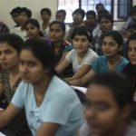 Students attend class at the Bansal Classes in Kota in India's desert state of Rajasthan August 13, 2012. REUTERS/Ahmad Masood