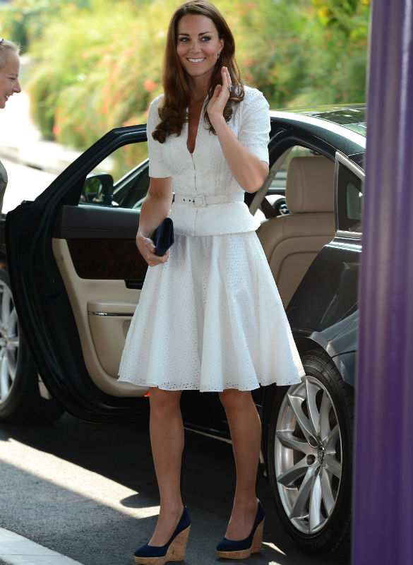 Kate Middleton Wows In White Alexander McQueen Suit Dress For Day Two Of Asian Tour