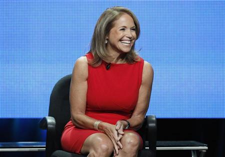 """Host Katie Couric attends a panel for """"Katie"""" during the Disney/ABC Television Group portion of the Television Critics Association Summer press tour in Beverly Hills, California July 26, 2012. REUTERS/Mario Anzuoni"""