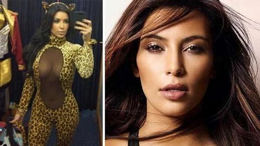 Kim Kardashian shows off possible leopard Halloween costume