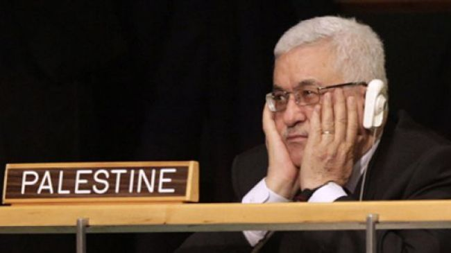 Mahmoud Abbas listens to debates during the 66th session of the General Assembly at UN headquarters on September