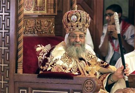 Pope Tawadros II, the new pope of the Coptic Orthodox church, attends his enthronement ceremony at St. Mark Cathedral in Abbasiya, Cairo November 18, 2012. REUTERS/Mohamed Abd El Ghany