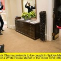 President Obama Gets Caught In 'Spiderman's' Web