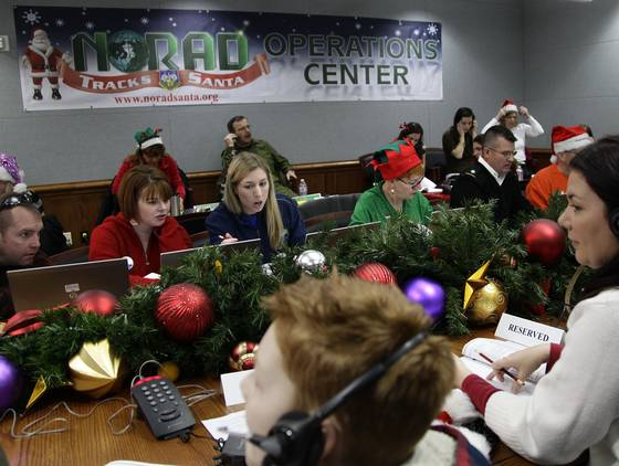NORAD's Santa trackers have record-breaking night