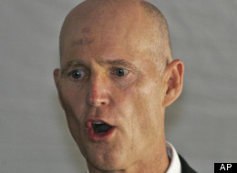 FILE - This Sept. 10, 2012 file photo shows Florida Gov. Rick Scott speaking in Tallahassee, Fla. Scott, who made a fortune as a health care executive, long opposed President Barack Obama's remake of the health insurance market. After the Democratic president won re-election, the Republican governor softened his tone. In New Jersey, Gov. Chris Christie also has walked a careful line. Both Republican governors face re-election in states that Obama won twice, Christie in 2013 and Scott in 2014. (AP Photo/Phil Sears, File)