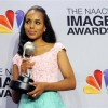 "Kerry Washington poses backstage with the award for outstanding actress in a drama series for ""Scandal"" at the 44th Annual NAACP Image Awards at the Shrine Auditorium in Los Angeles on Friday, Feb. 1, 2013. (Photo by Chris Pizzello/Invision/AP)"