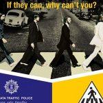 Beatles' Abbey Road cover in Calcutta traffic campaign