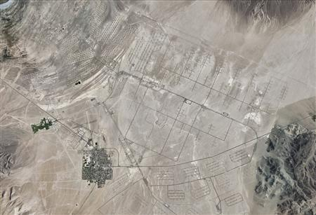 Hawthorne Army Depot in western Nevada is seen in this August 30, 2010 satellite image courtesy of Google Earth. REUTERS/Google Earth/Handout