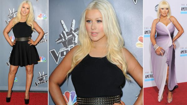 Christina Aguilera shows off toned figure at 'The Voice' premiere