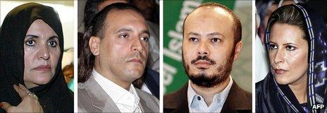 Safia, Hannibal, Mohamed and Aisha Gaddafi 'not in Algeria'