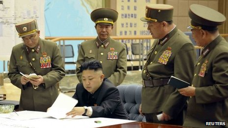 Kim Jong-un signed an order putting rockets on stand-by after meeting generals