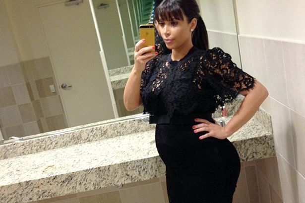 Woah! Look how big Kim Kardashian's baby bump has got this week!