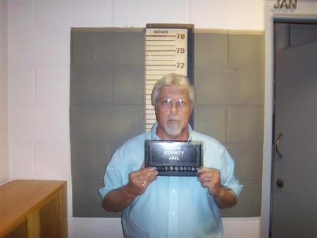 Knox County, Maine, Correctional Facility booking photograph shows Mark W. Strong Sr., 56, of Thomaston, Maine, arrested for Promotion of Prostitution, a Class D misdemeanor on July 10, 2012. REUTERS/Knox County Correctional Facility/Handout
