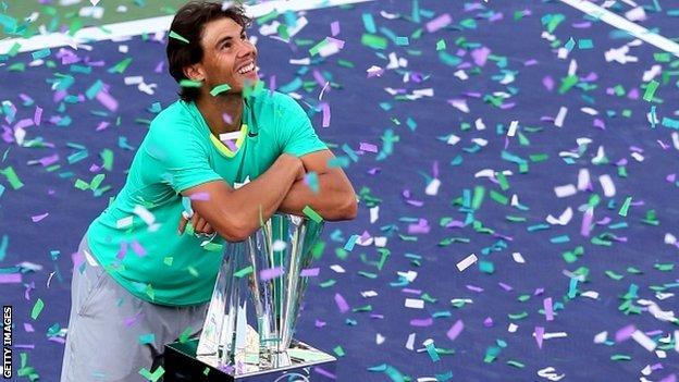 Rafael Nadal beats Juan Martin del Potro in Indian Wells final