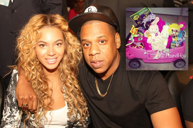 """Cuteness alert! Jay-Z gushes about """"delightful"""" Easter with Beyonce and baby daughter Blue Ivy Carter"""