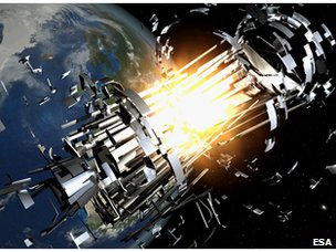 Space debris collisions expected to rise
