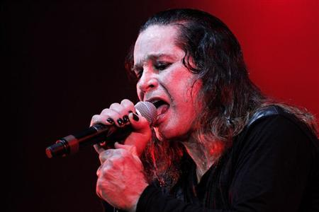 Rock musician Ozzy Osbourne performs during a concert in Brasilia April 5, 2011. Osbourne is on his Scream Tour South America/Europe 2011. REUTERS/Ueslei Marcelino