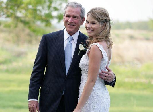 George W. Bush becomes a grandpa
