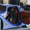 You certainly can't miss him! Will.i.am cruises out of LAX in his extravagent $900,000 custom-built blue car