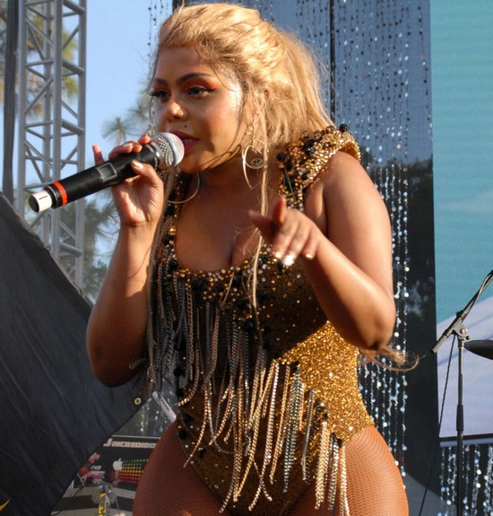 Lil Kim was late for her performance at Lovebox Festival on Sunday (LIFE-WENN)