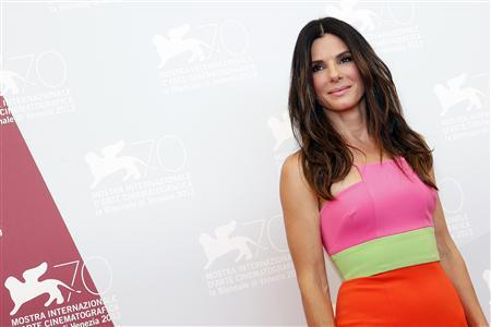 U.S. actress Bullock poses during a photocall at the 70th Venice Film Festival in Venice