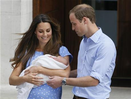 Britain's Prince William, right, and Kate