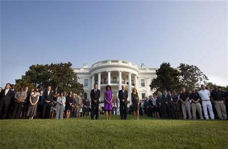 President Barack Obama, first lady Michelle Obama, Vice President Joe Biden