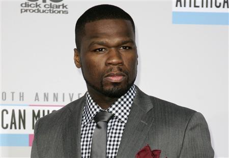 File of Curtis Jackson, known as 50 Cent, arriving at the 40th American Music Awards in Los Angeles