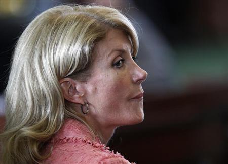 Democratic Senator Wendy Davis listens as the state Senate meets to consider legislation restricting abortion rights in Austin, Texas