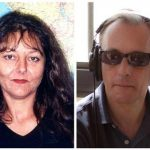 Combo picture of the two Radio France International journalists Dupont and Verlon, who were killed by gunmen in northern Mali