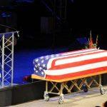 Gov. Brian Sandoval speaks at the memorial service for Michael Landsberry