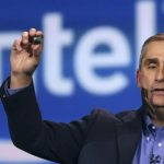 Intel CEO Krzanich introduces Intel's Edison, a new personal computer in the size of an SD card, during the annual Consumer Electronics Show (CES) in Las Vegas, Nevada