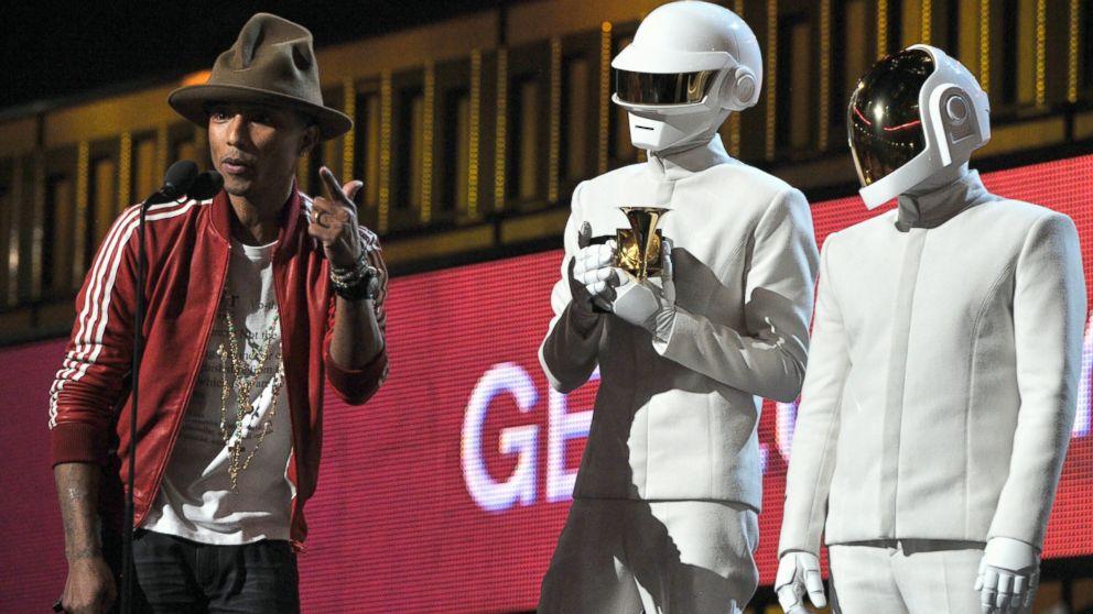 Pharrell Williams, and Daft Punk's Thomas Bangalter and Guy-Manuel de Homem-Christo