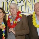 """CAST MEMBERS IN """"GILLIGAN'S ISLAND"""" POSE AT DVD LAUNCH PARTY IN MARINA DEL REY."""