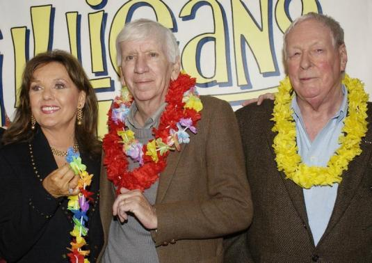 "CAST MEMBERS IN ""GILLIGAN'S ISLAND"" POSE AT DVD LAUNCH PARTY IN MARINA DEL REY."