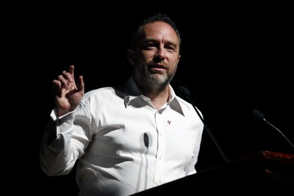 Wikipedia founder Jimmy Wales attends the international Wikimedia conference in Hong Kong