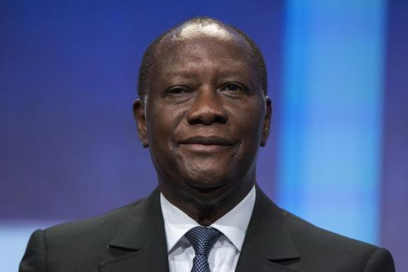 President of Ivory Coast Alassane Ouattara at the Clinton Global Initiative in New York