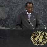 Chad's President Deby addresses the 68th United Nations General Assembly at UN headquarters in New York